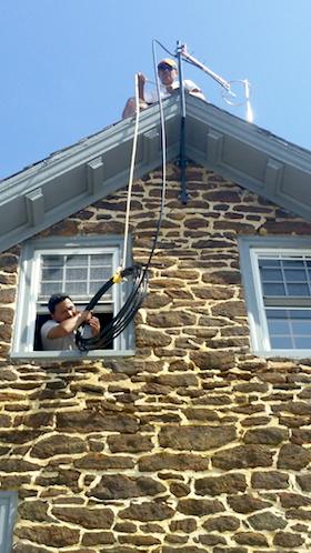 Prometheus Engineer Allan Gomez installs RadioCATA antenna